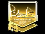 B1ad3 - naklejka Cluj'15 (złoto)
