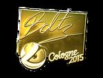 Boltz - naklejka Cologne 2015 (złoto)