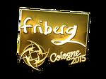 Friberg - naklejka Cologne 2015 (złoto)
