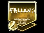 FalleN - naklejka Cluj'15 (złoto)