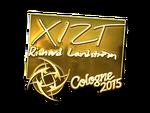 Xizt - naklejka Cologne 2015 (złoto)