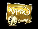 Xyp9x - naklejka Cologne 2015 (złoto)