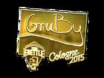 GruBy - naklejka Cologne 2015 (złoto)