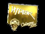 Hyper - naklejka Cologne 2015 (złoto)