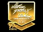 Pronax - naklejka Cluj'15 (złoto)