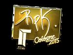 RpK - naklejka Cologne 2015 (złoto)