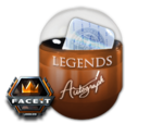 Pojemnik z autografami legend FACEIT Major 2018