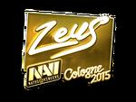 Zeus - naklejka Cologne 2015 (złoto)