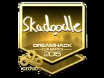 Skadoodle - naklejka Cluj'15 (złoto)