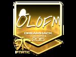 Olofmeister - naklejka Cluj'15 (złoto)