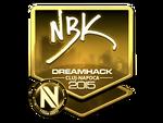 NBK- - naklejka Cluj'15 (złoto)