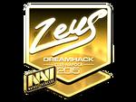 Zeus - naklejka Cluj'15 (złoto)