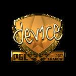Device (Gold) Kraków'17