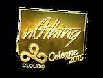 N0thing - naklejka Cologne 2015 (złoto)