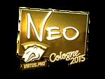 NEO - naklejka Cologne 2015 (złoto)