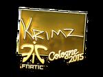 KRIMZ - naklejka Cologne 2015 (złoto)