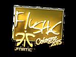 Flusha - naklejka Cologne 2015 (złoto)