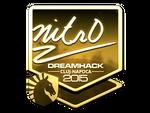 Nitr0 - naklejka Cluj'15 (złoto)