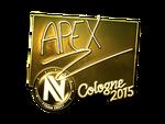 ApEX - naklejka Cologne 2015 (złoto)