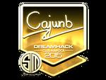 Cajunb - naklejka Cluj'15 (złoto)