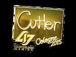 ReltuC - naklejka Cologne 2015 (złoto)