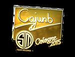 Cajunb - naklejka Cologne 2015 (złoto)