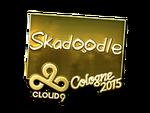 Skadoodle - naklejka Cologne 2015 (złoto)