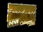 GuardiaN - naklejka Cologne 2015 (złoto)