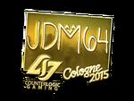 Jdm64 - naklejka Cologne 2015 (złoto)