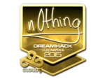 N0thing - naklejka Cluj'15 (złoto)