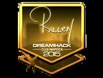 Rallen - naklejka Cluj'15 (złoto)