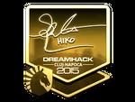 Hiko - naklejka Cluj'15 (złoto)