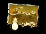 ScreaM - naklejka Cologne 2015 (złoto)