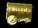 FalleN - naklejka Cologne 2015 (złoto)
