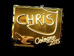 ChrisJ - naklejka Cologne 2015 (złoto)