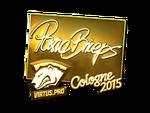 PashaBiceps - naklejka Cologne 2015 (złoto)