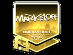 Markeloff - naklejka Cluj'15 (złoto)