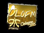 Olofmeister - naklejka Cologne 2015 (złoto)