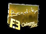 Bondik - naklejka Cologne 2015 (złoto)