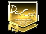 DavCost - naklejka Cluj'15 (złoto)