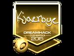 Kjaerbye - naklejka Cluj'15 (złoto)