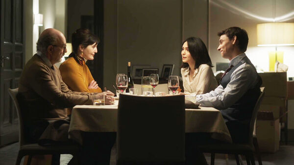 Clare-Peter-Quayle-and-Roland-Fancher-dinner-Counterpart-STARZ-Season-2-Episode-01-inside-out
