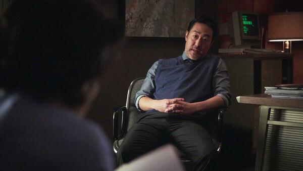 Kenneth-Choi-as-Bob-Dwyer-Counterpart-Starz-Season-1-Episode-2-Birds-of-a-Feather