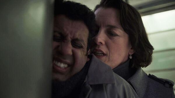 Adeel-Akhtar-Olivia-Williams-Emily-Burton-Silk-saves-Kasper-Counterpart-STARZ-Season-1-Episode-9-No-Mans-Land