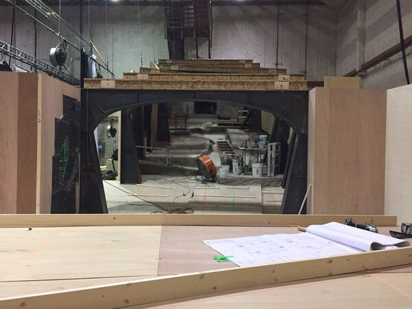 Amy Berg Behind the Scenes of Counterpart STARZ the Crossing Room under construction