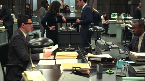 Typewriter in Office of Interchange Counterpart Starz Wikia Season 1 Episode 1 The Crossing