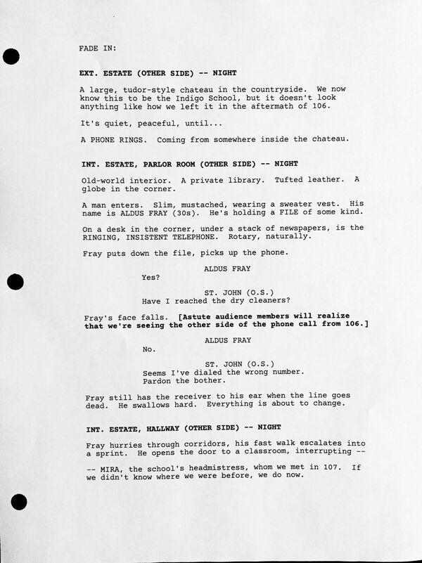 Counterpart STARZ Season 1 Episode 8 Love the Lie Script page 1