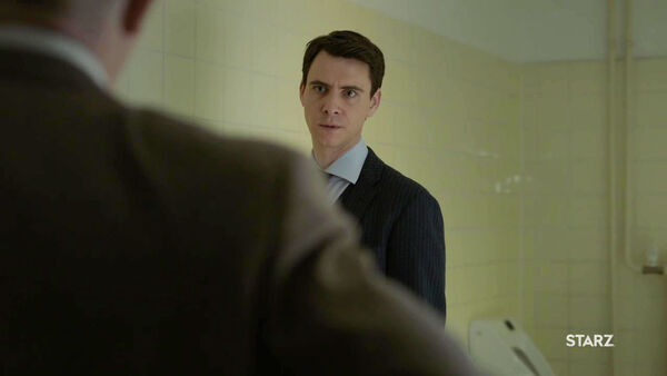 Harry-Lloyd-as-Peter-Quayle-with-Howard-in-WC-Counterpart-STARZ-Season-2-Episode-01-inside-out