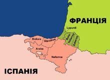Мапа етнічної території Басків