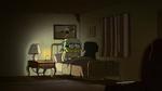 Gramma sitting in her dark bedroom